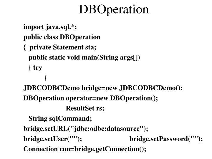 DBOperation