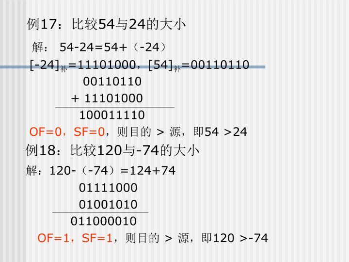 例17:比较54与24的大小