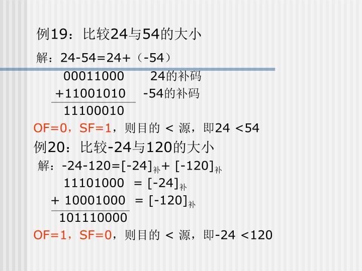 例19:比较24与54的大小