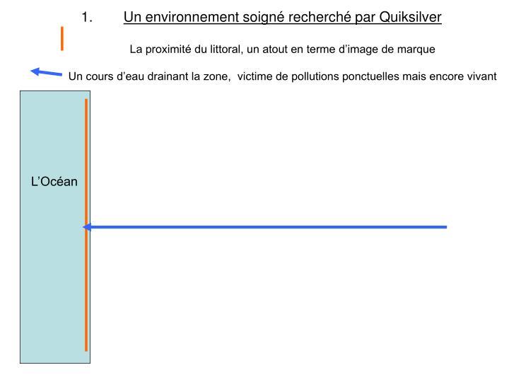 Un environnement soigné recherché par Quiksilver