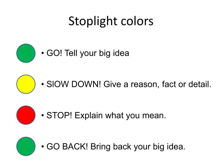 Stoplight colors