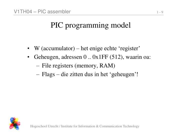 PIC programming model