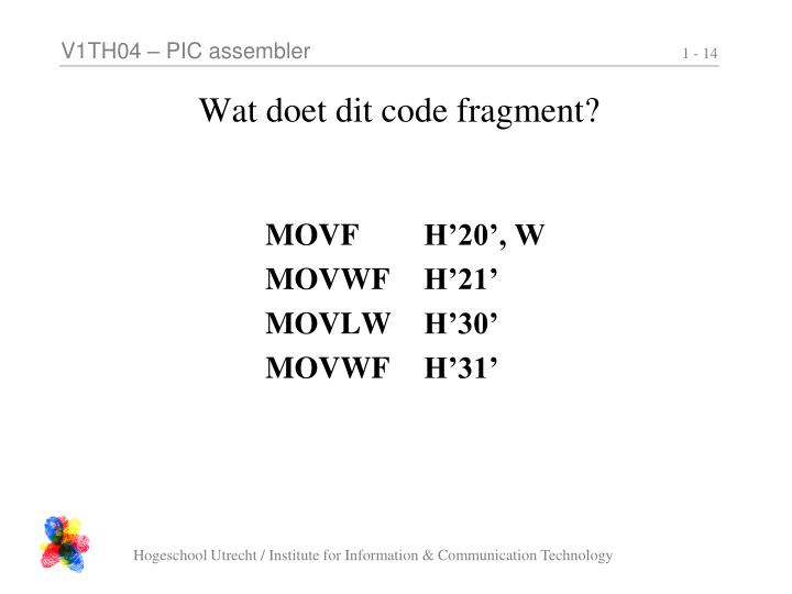 Wat doet dit code fragment?