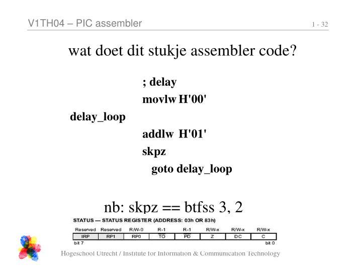 wat doet dit stukje assembler code?