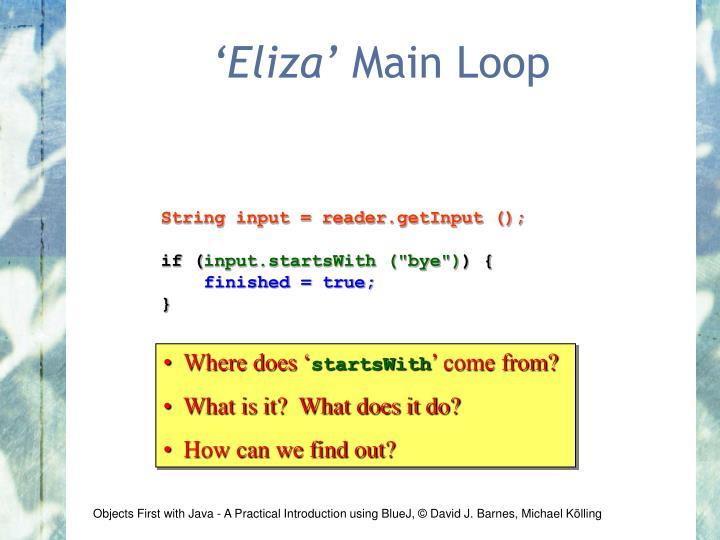 'Eliza'