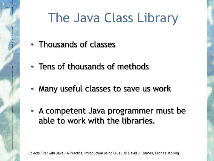 The Java Class Library