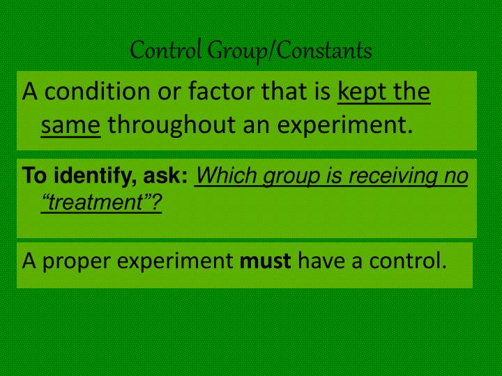 Control Group/Constants