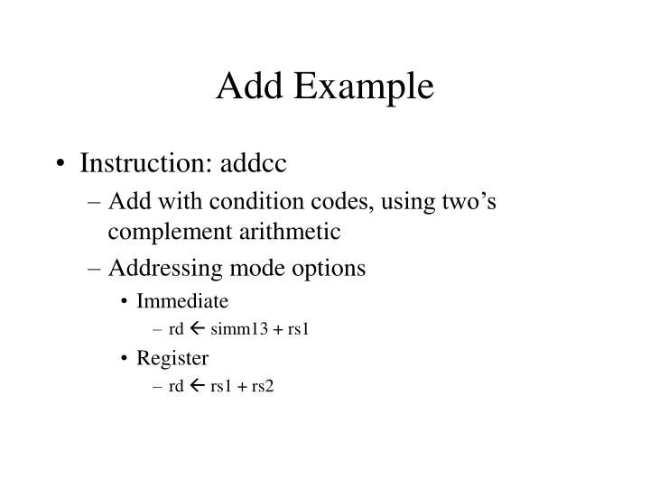 Add Example