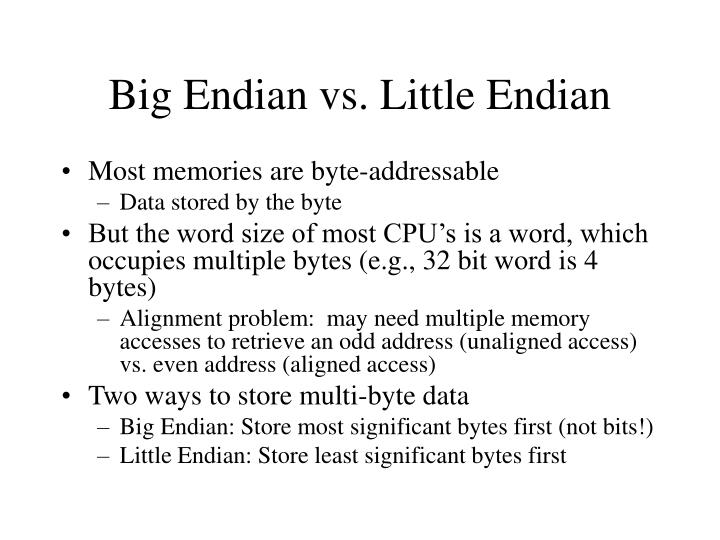 Big Endian vs. Little Endian