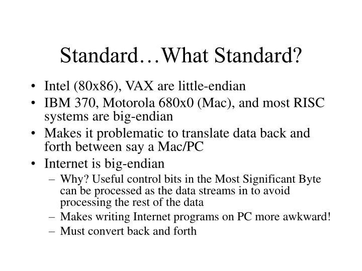 Standard…What Standard?
