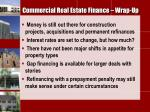 commercial real estate finance wrap up