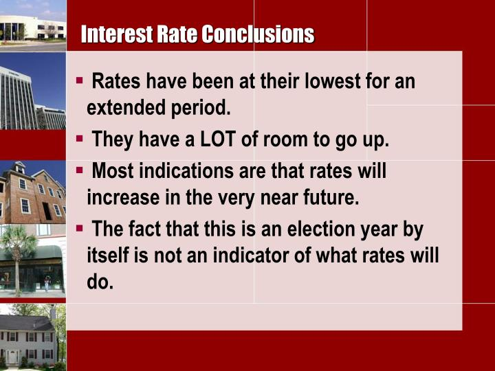 Interest Rate Conclusions