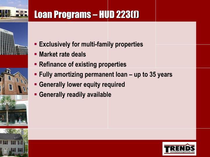 Loan Programs – HUD 223(f)