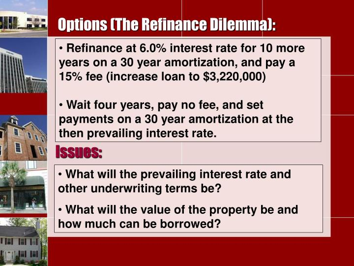 Options (The Refinance Dilemma):