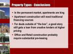 property types conclusions