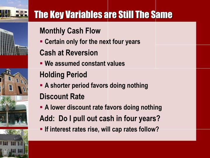 The Key Variables are Still The Same
