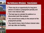 the refinance dilemma conclusions