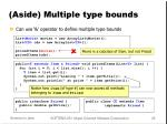aside multiple type bounds