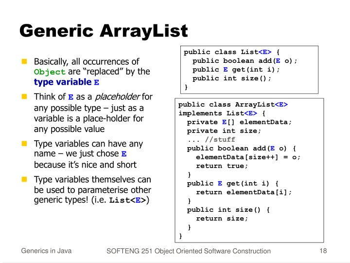 Generic ArrayList