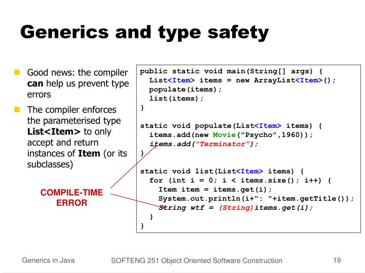 Generics and type safety