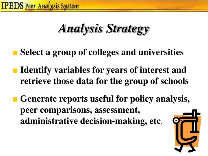 Analysis Strategy