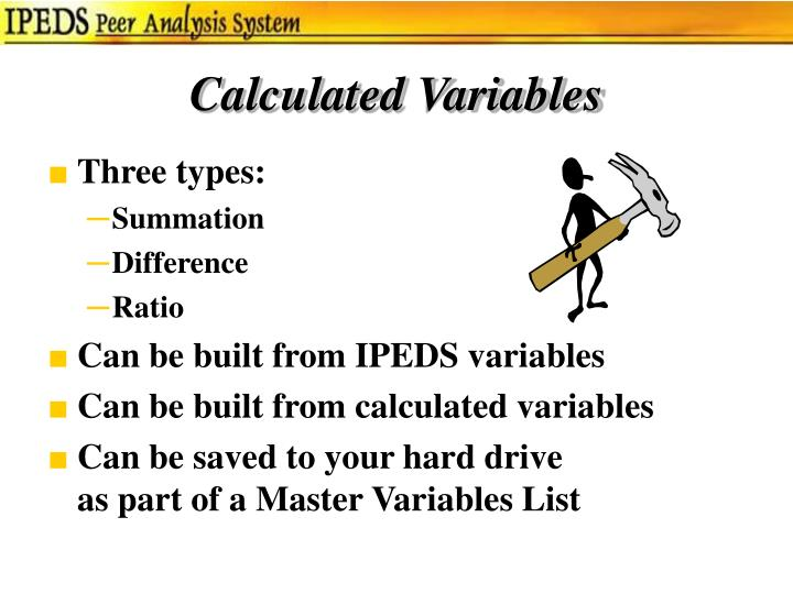 Calculated Variables