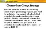 comparison group strategy