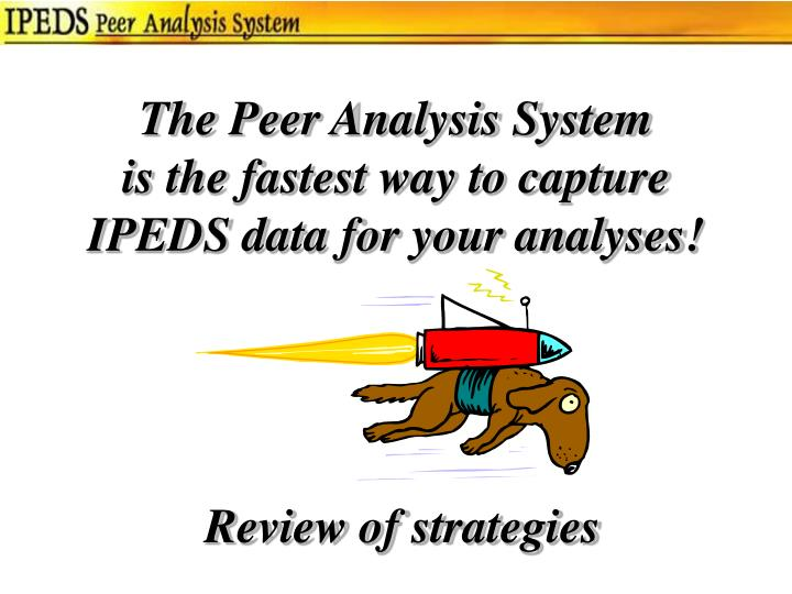 The Peer Analysis System