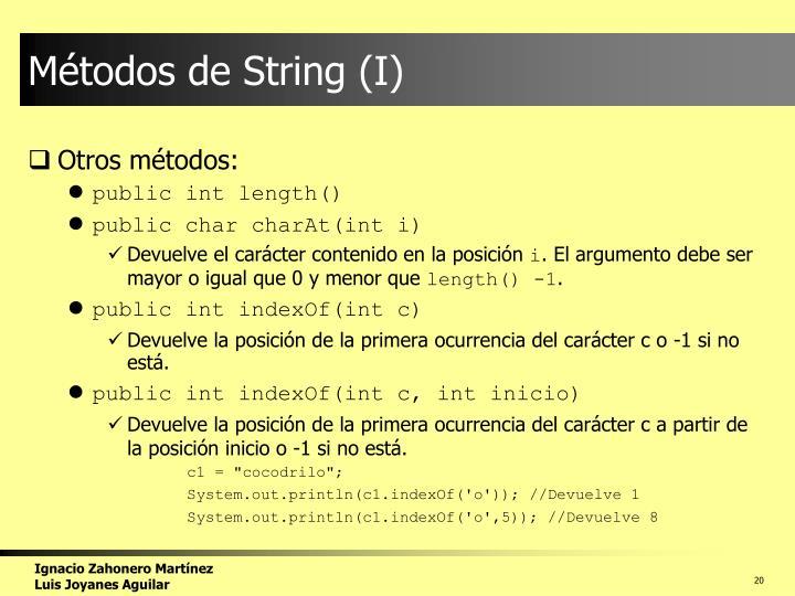 Métodos de String (I)