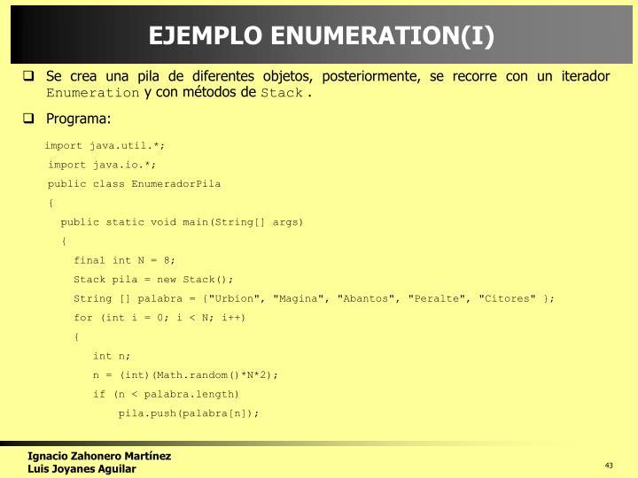 EJEMPLO ENUMERATION(I)