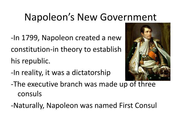 Napoleon's New Government