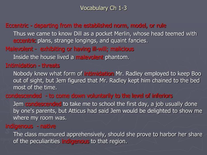 Vocabulary Ch 1-3