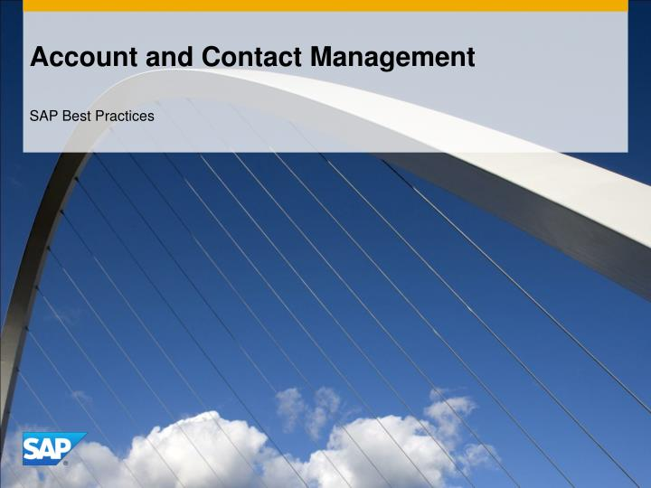 Account and contact management