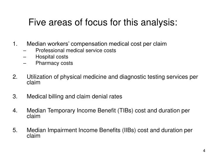 Five areas of focus for this analysis: