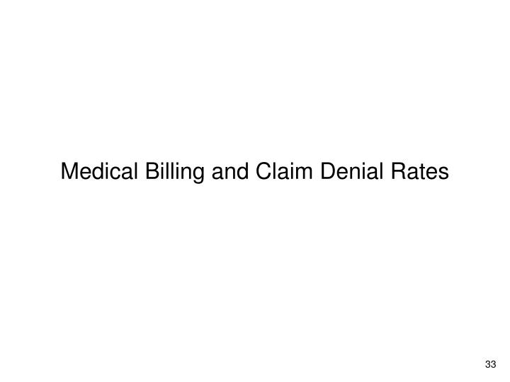 Medical Billing and Claim Denial Rates