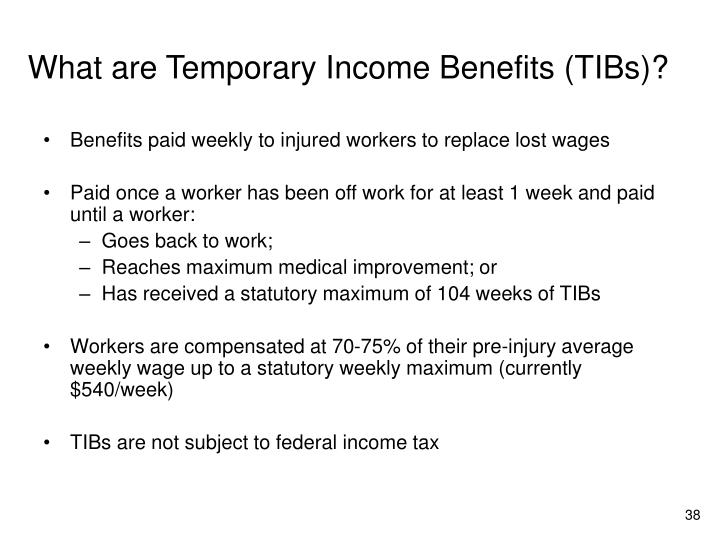 What are Temporary Income Benefits (TIBs)?