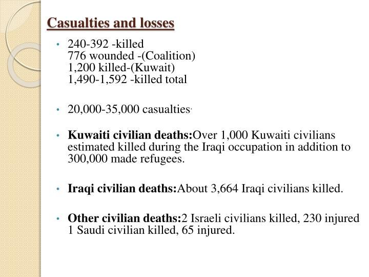 Casualties and losses
