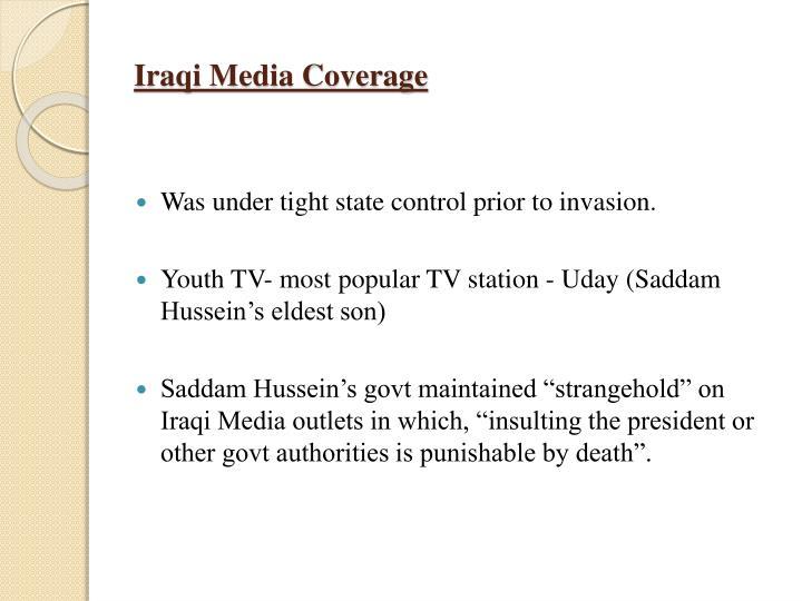 Iraqi Media Coverage