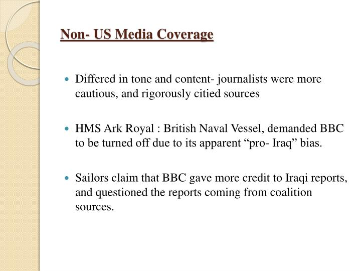 Non- US Media Coverage