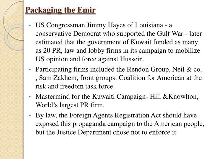 Packaging the Emir