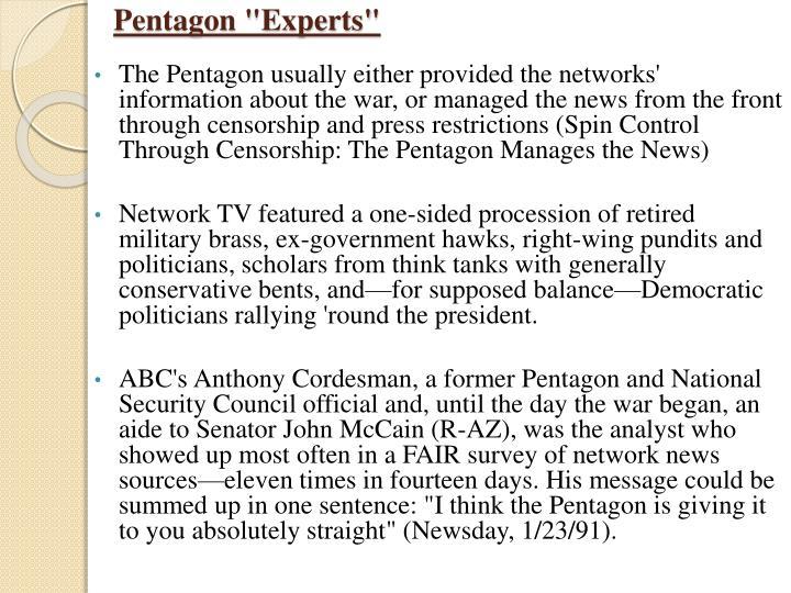 """Pentagon """"Experts"""""""