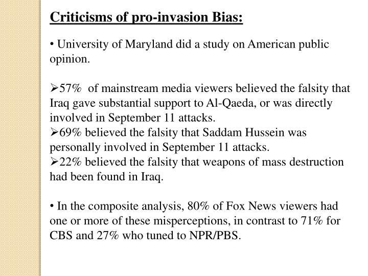 Criticisms of pro-invasion Bias: