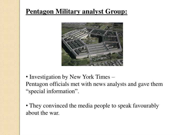 Pentagon Military analyst Group: