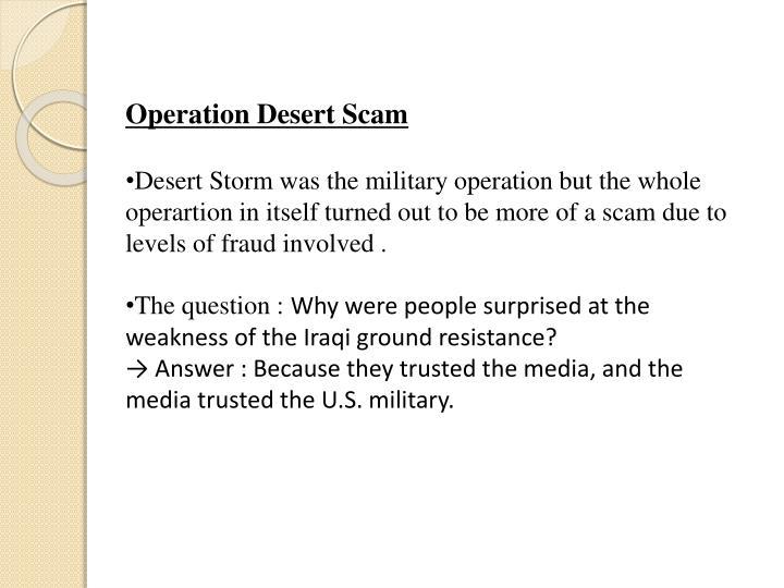 Operation Desert Scam