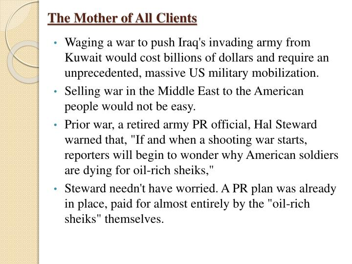 The Mother of All Clients