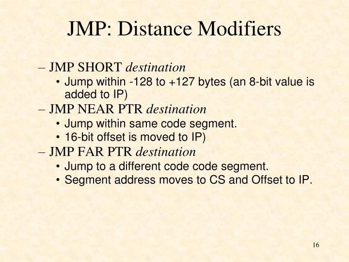 JMP: Distance Modifiers