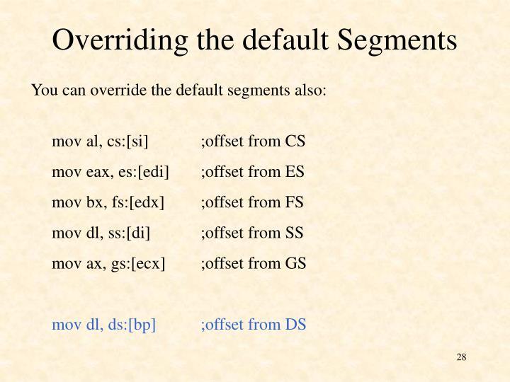 Overriding the default Segments