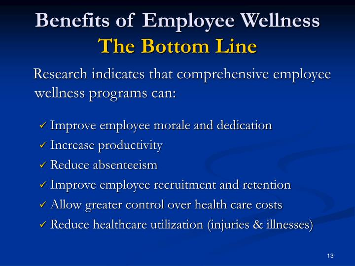 Benefits of Employee Wellness