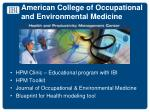 american college of occupational and environmental medicine1