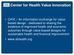 center for health value innovation